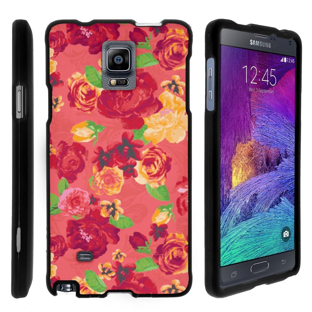 Note 4 Case SNAP SHELL 3 IN 1 Combo - Slim Hard Fitted Case - Fruity Rose Pattern