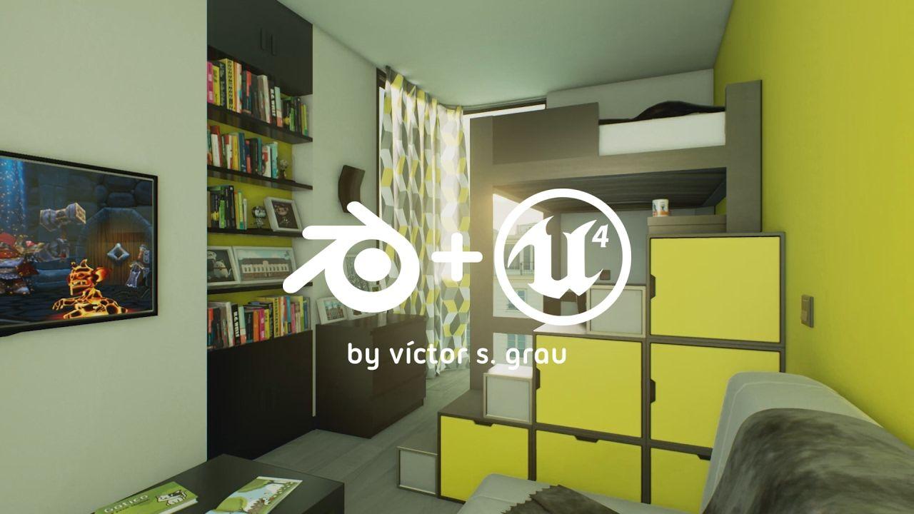 CMYK House (Day) (Blender + Unreal Engine 4 Archviz) | CG