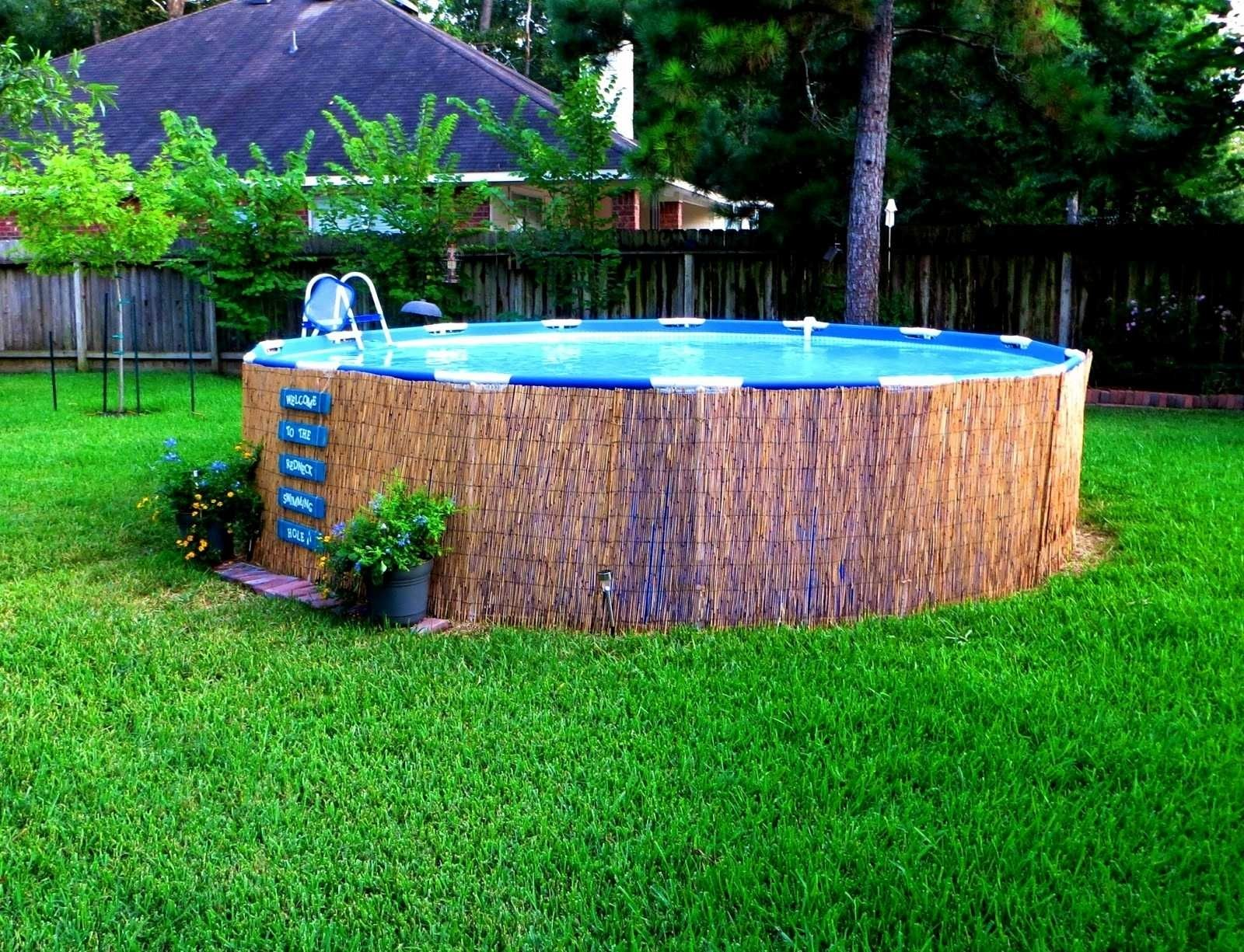 12 Genius Designs Of How To Improve Backyard Above Ground Pool Landscaping Ideas Small Above Ground Pool Pool Landscape Design Small Backyard Pools