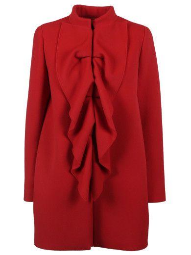 BOUTIQUE MOSCHINO Boutique Moschino Mandarin Collar Coat. #boutiquemoschino #cloth #coats-jackets