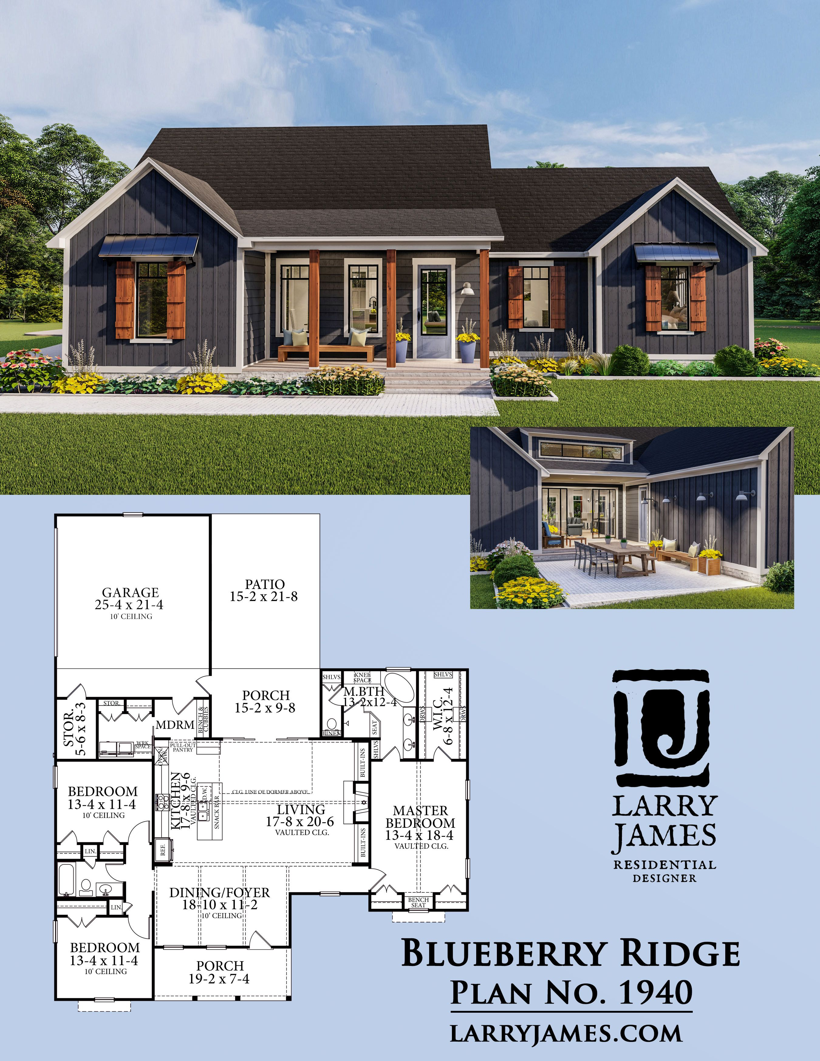 Blueberry Ridge 1940 House Plans Farmhouse Sims House Plans House Blueprints