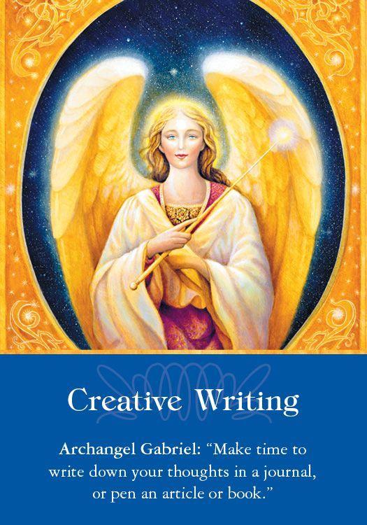 Creative writing angel card