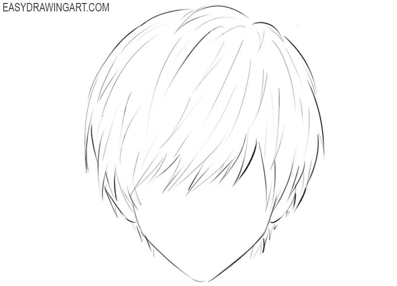 How To Draw Anime Hair Easy Anime Hair How To Draw Anime Hair Anime Boy Hair