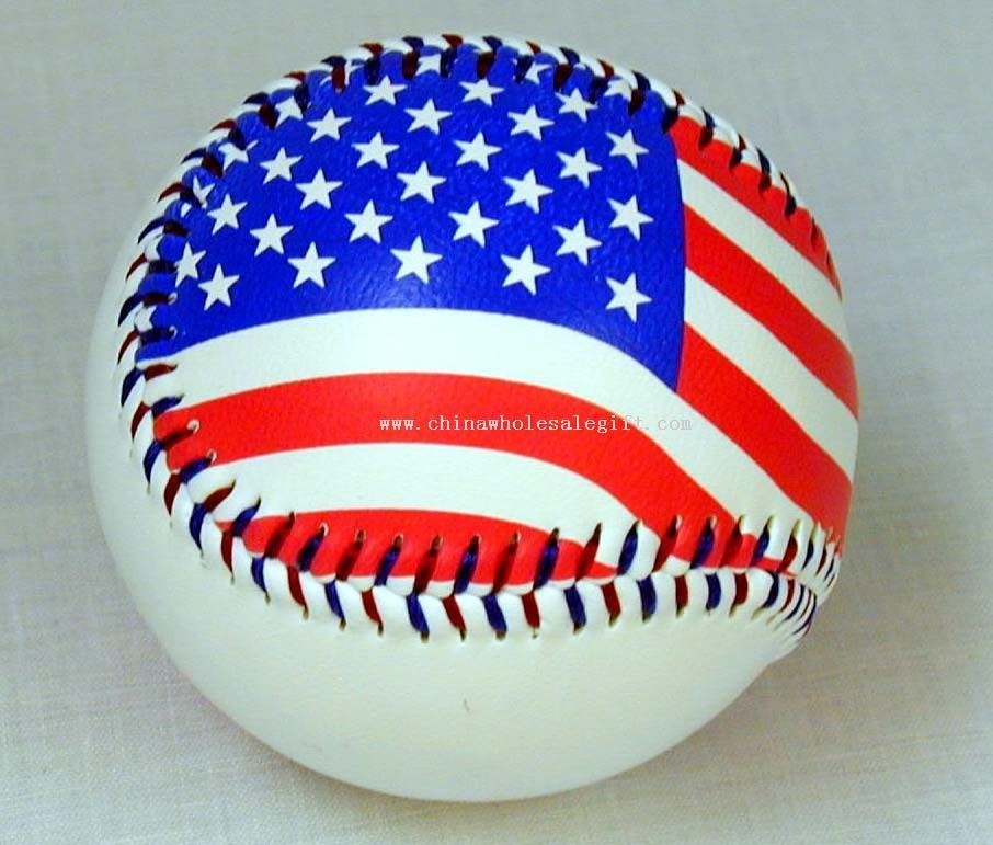 How is this for a really American image. Though I think actually hitting this ball would be in poor taste!