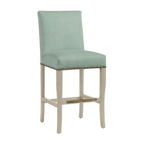 Perry Counter Stool With Brass Nailheads Counter Stools