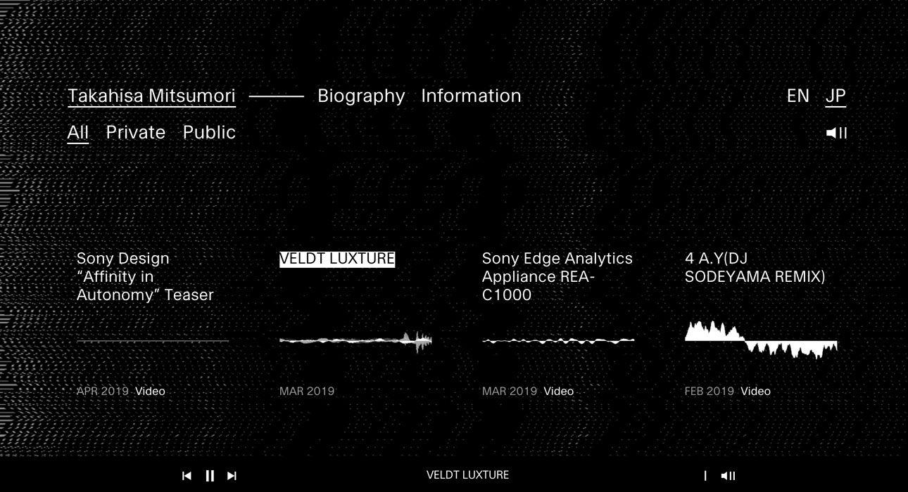 Takahisa Mitsumori Awwwards Sotd Sony Design Interactive