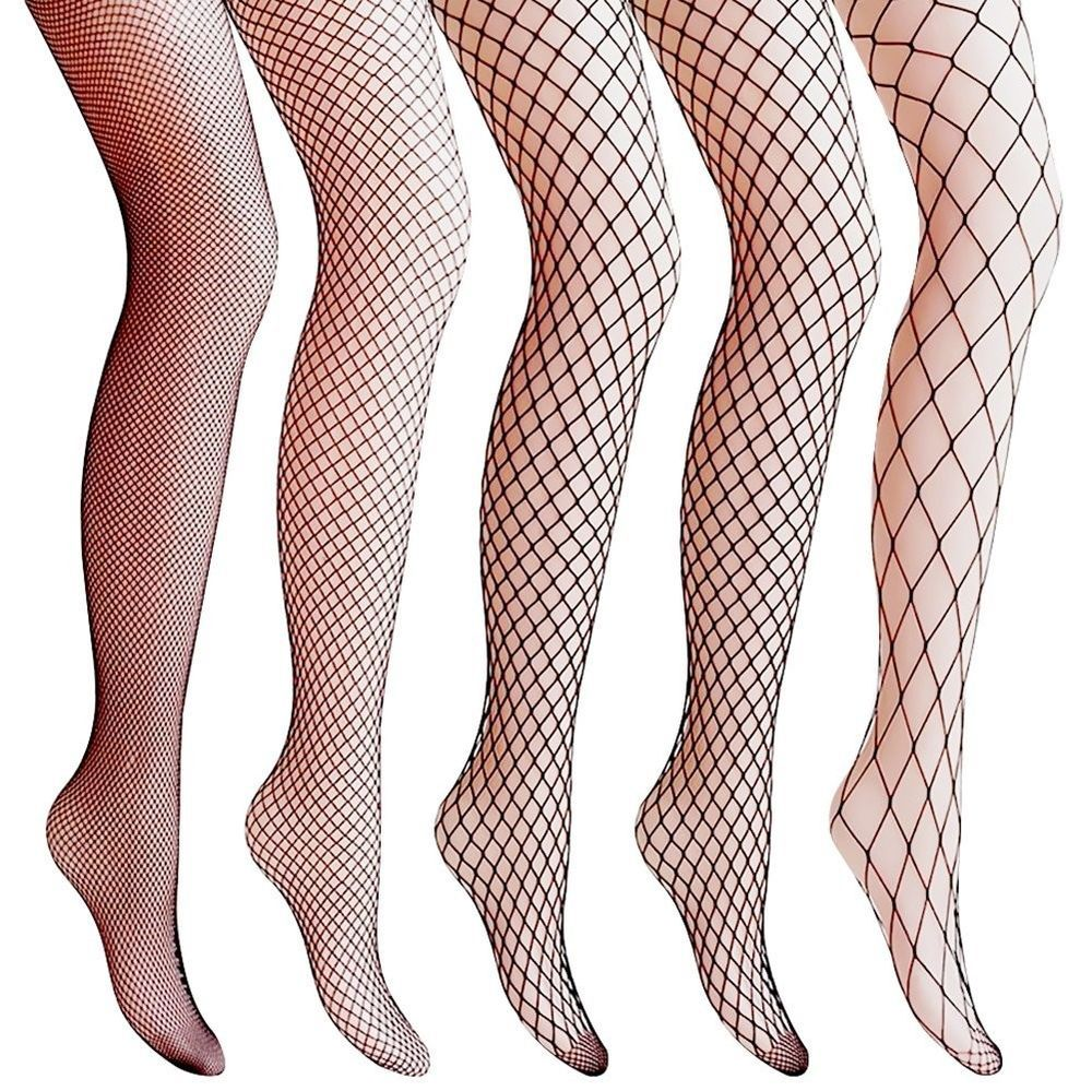 3bf188b090657 Amandir 5 Pairs Women Lace Fishnet Stockings Patterned Tights Mesh Net  Pantyhose #Amandir #Tights