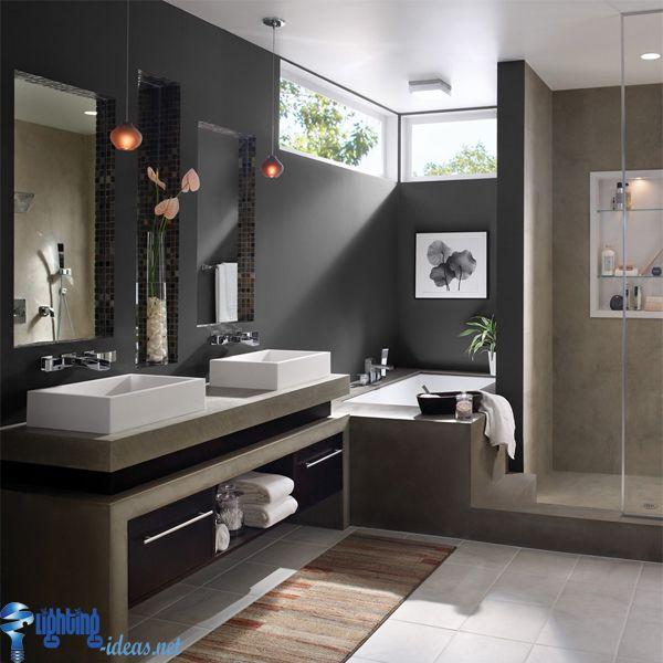 bathroom+light+fixtures-Beauty-black-bathroom-with-ceiling-light ...