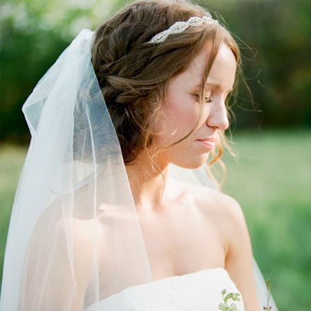 A Wedding Hairstyle That Works Well with a Veil | Rustic wedding ...