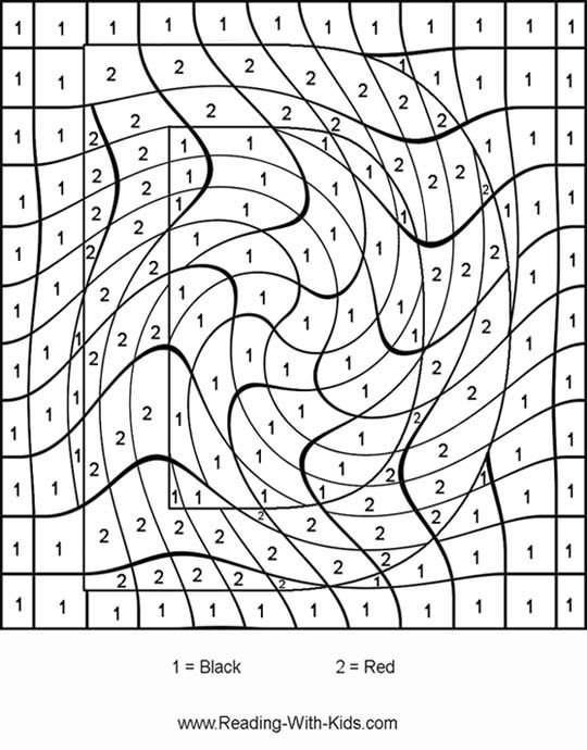 Color By Number Coloring Pages Letter