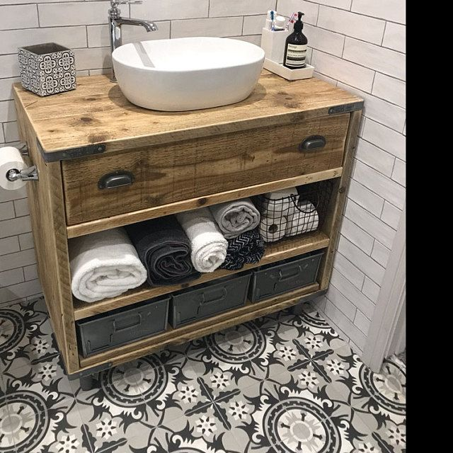 Photo of Chelsea-Wooden Bathroom Vanity incl.Basin Wooden Vanity | Etsy