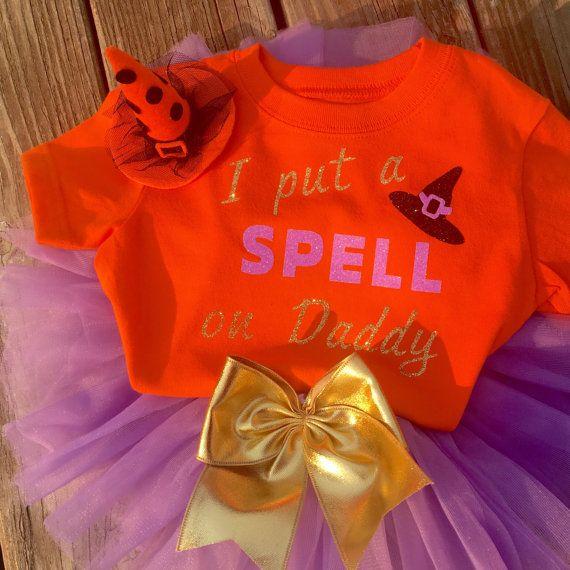 Baby girls Halloween outfit, Halloween outfit, Halloween T-shirt, Halloween tutu…