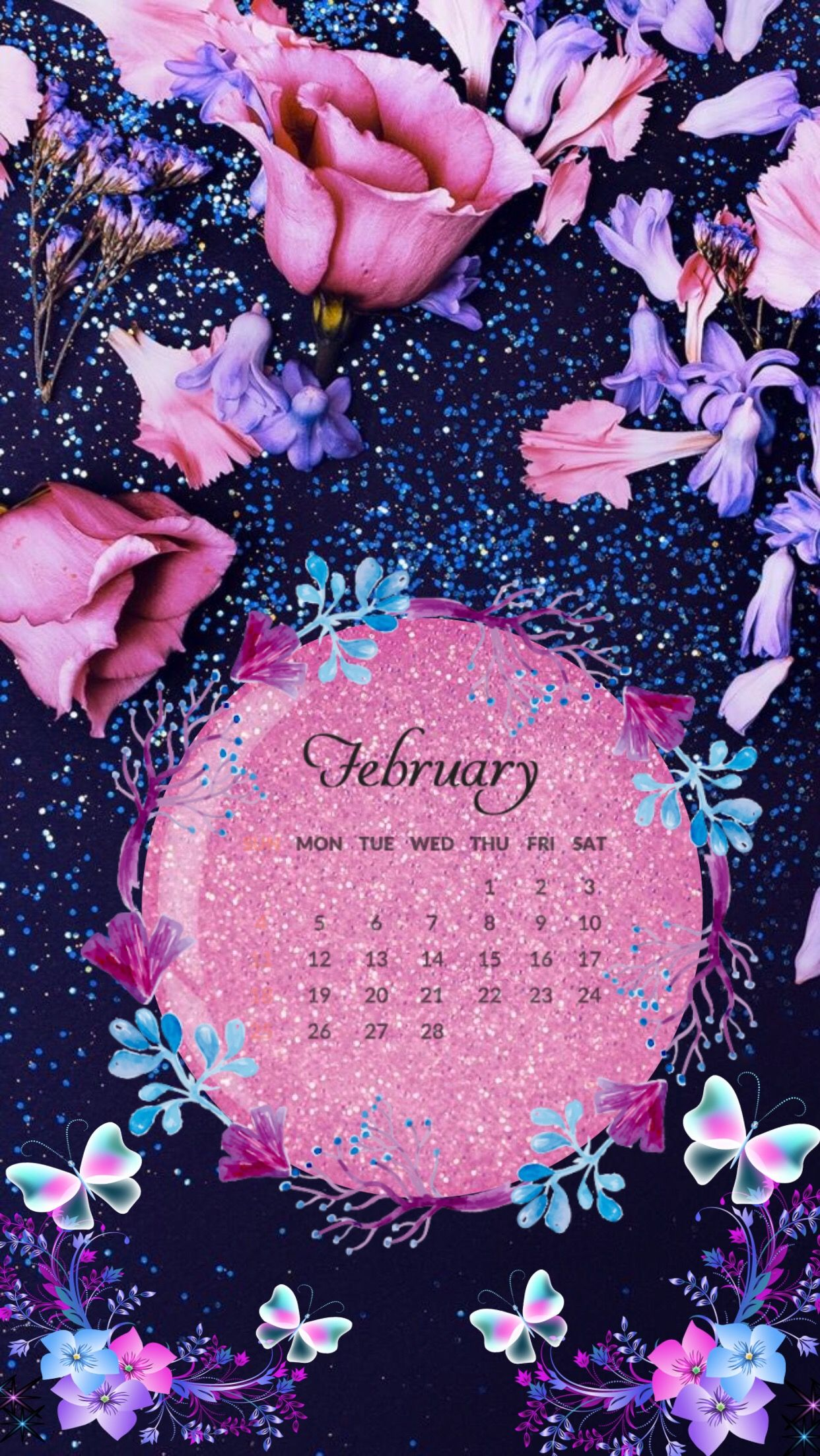 February IPhone calendar wallpaper iphonewallpaper iphoneography