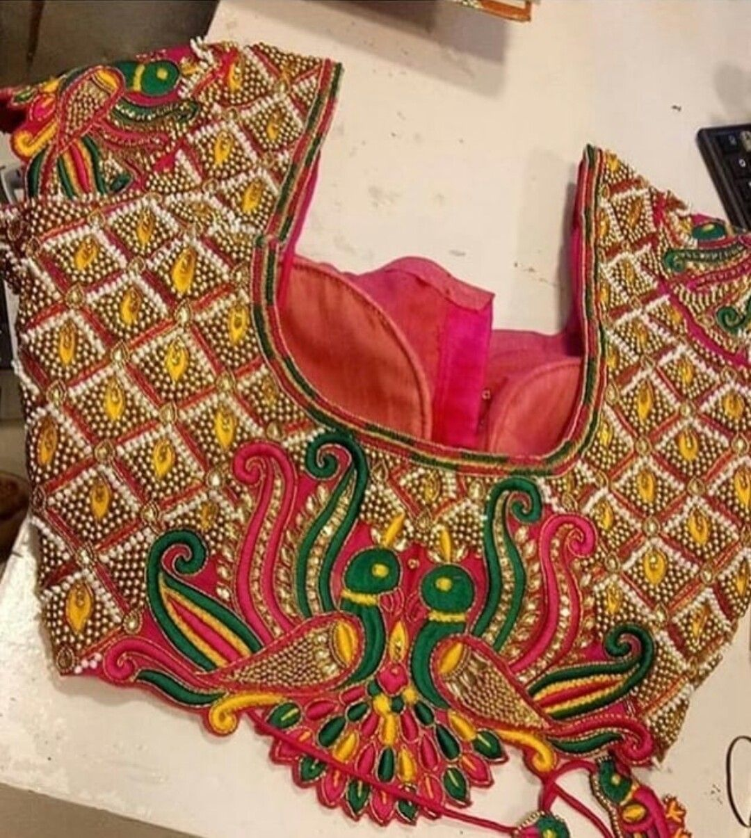 Saree dress blouse sari south indian designs aari embroidery also pin by firdous laskar on in pinterest rh