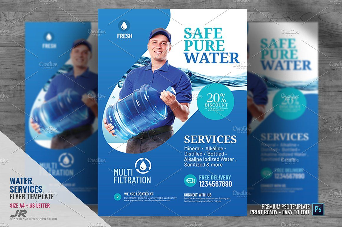 Water Refilling Station Flyer(画像あり)