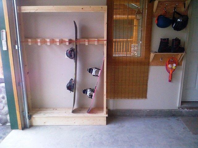 garage snowboard racks google search