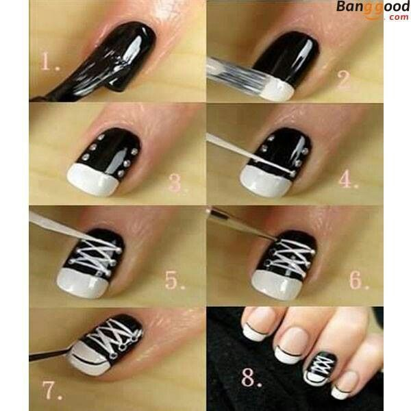 Nail Art Couture Converse Nail Art: Converse Nails, Converse Nail Art, Sneaker Nails