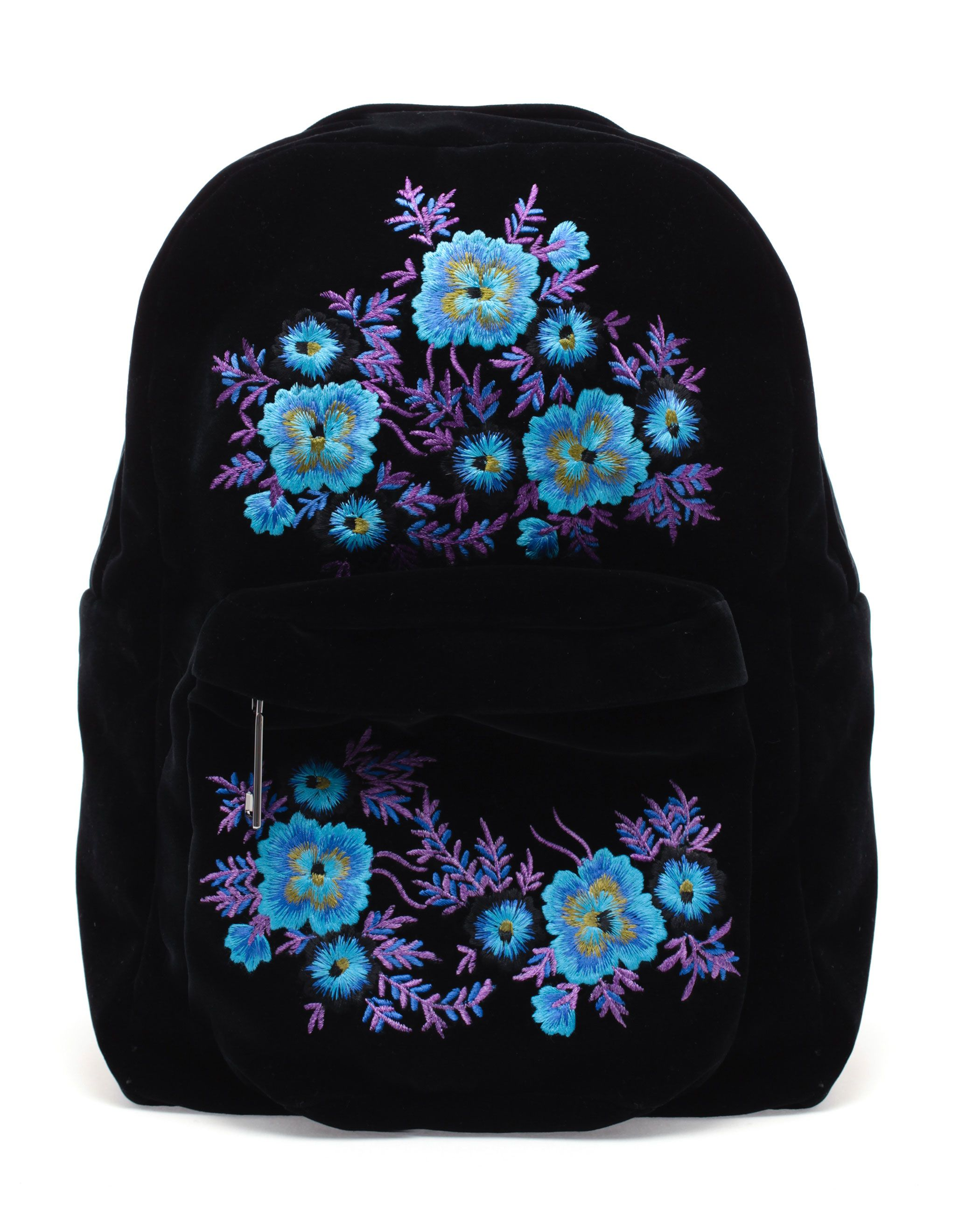 Christopher Kane Embroidered Velvet Backpack