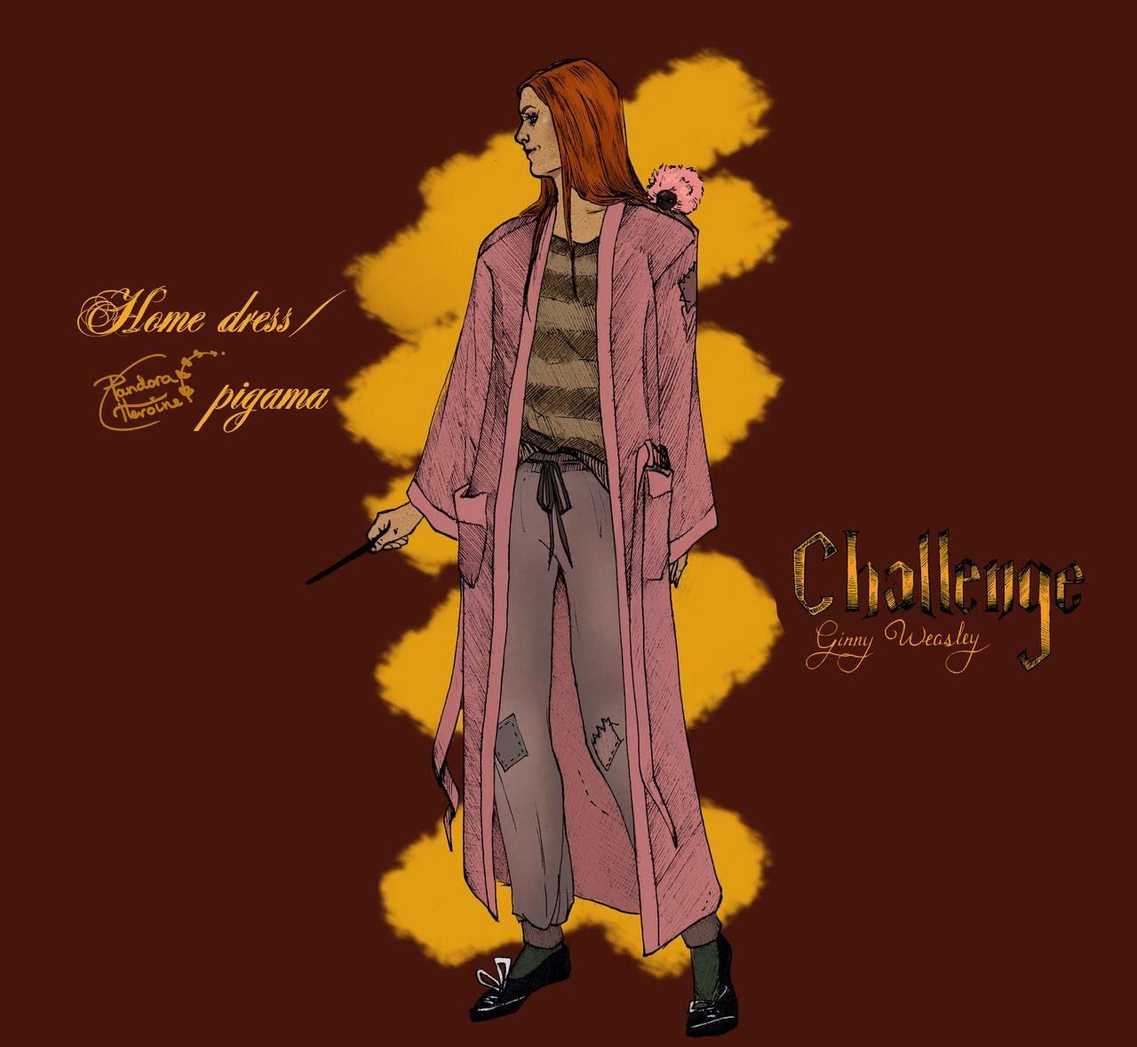Pandora Le Fay Ginny Weasley Three Outfits 3 Wedding Dress Ginny Weasley Harry Potter Fan Art Harry And Ginny