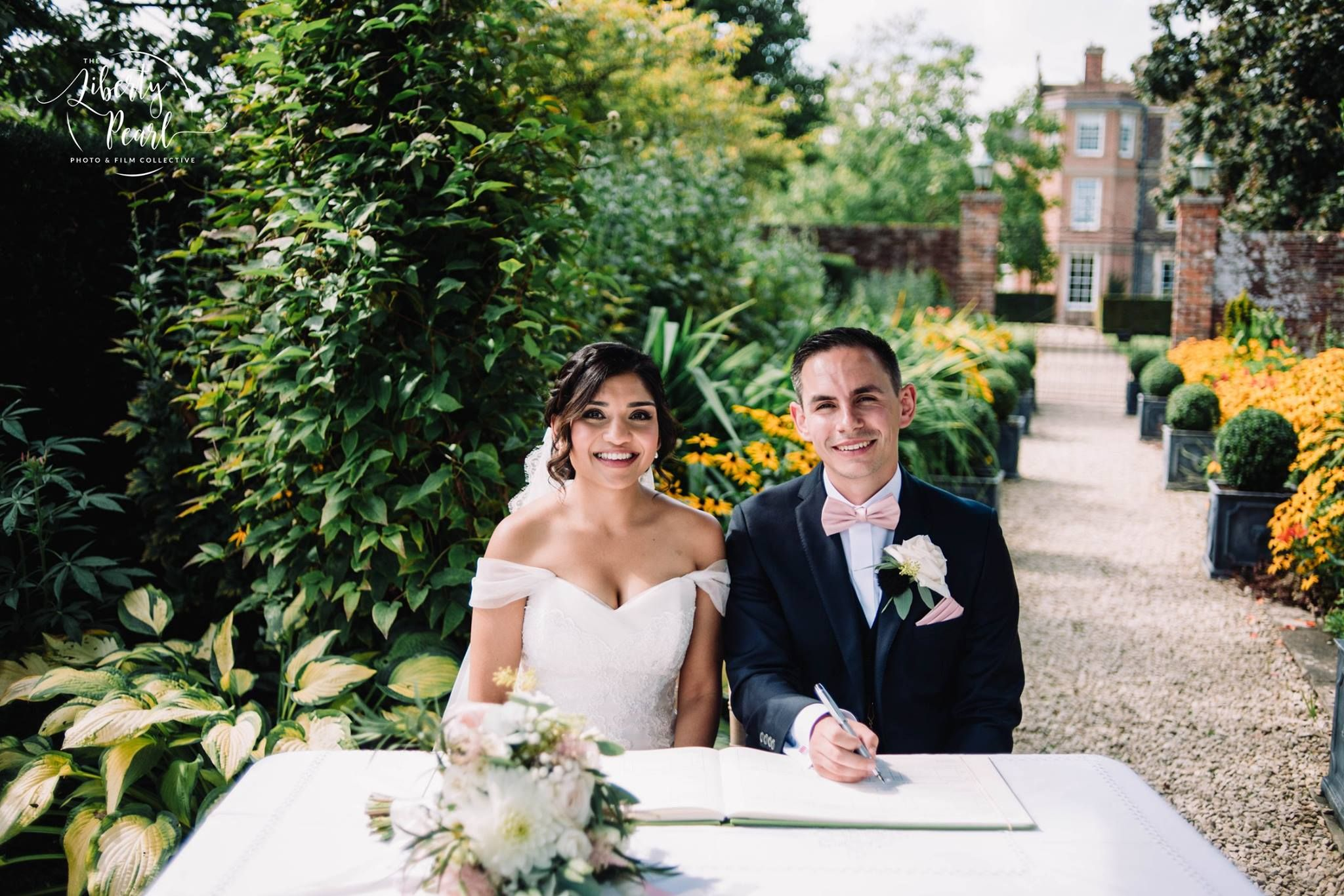 English asian wedding luxury elegant bride country house london uk