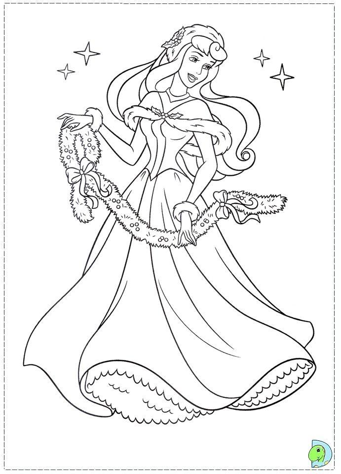 Christmas Disney Princess Coloring Page Dinokids Org Disney Princess Coloring Pages Princess Coloring Pages Disney Coloring Pages