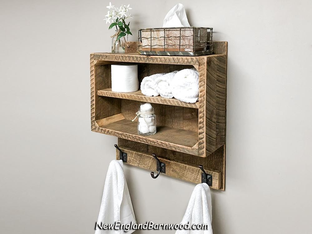 Newenglandbarnwood Add Rustic Modern Style To Your Bathroom With Our Vintage Inspired Bathroom Shelf With Towe Home Decor Styles Decorating Shelves Home Decor