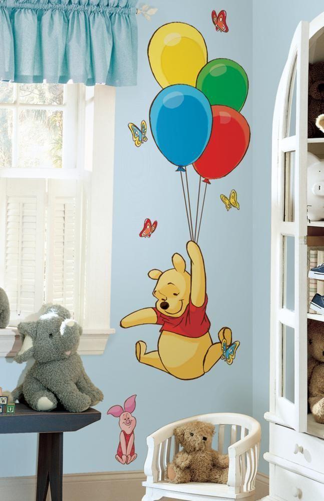 Winnie the Pooh - Pooh & Piglet Peel & Stick Giant Wall Decal - marisol velasquez - decoration#decal #decoration #giant #marisol #peel #piglet #pooh #stick #velasquez #wall #winnie