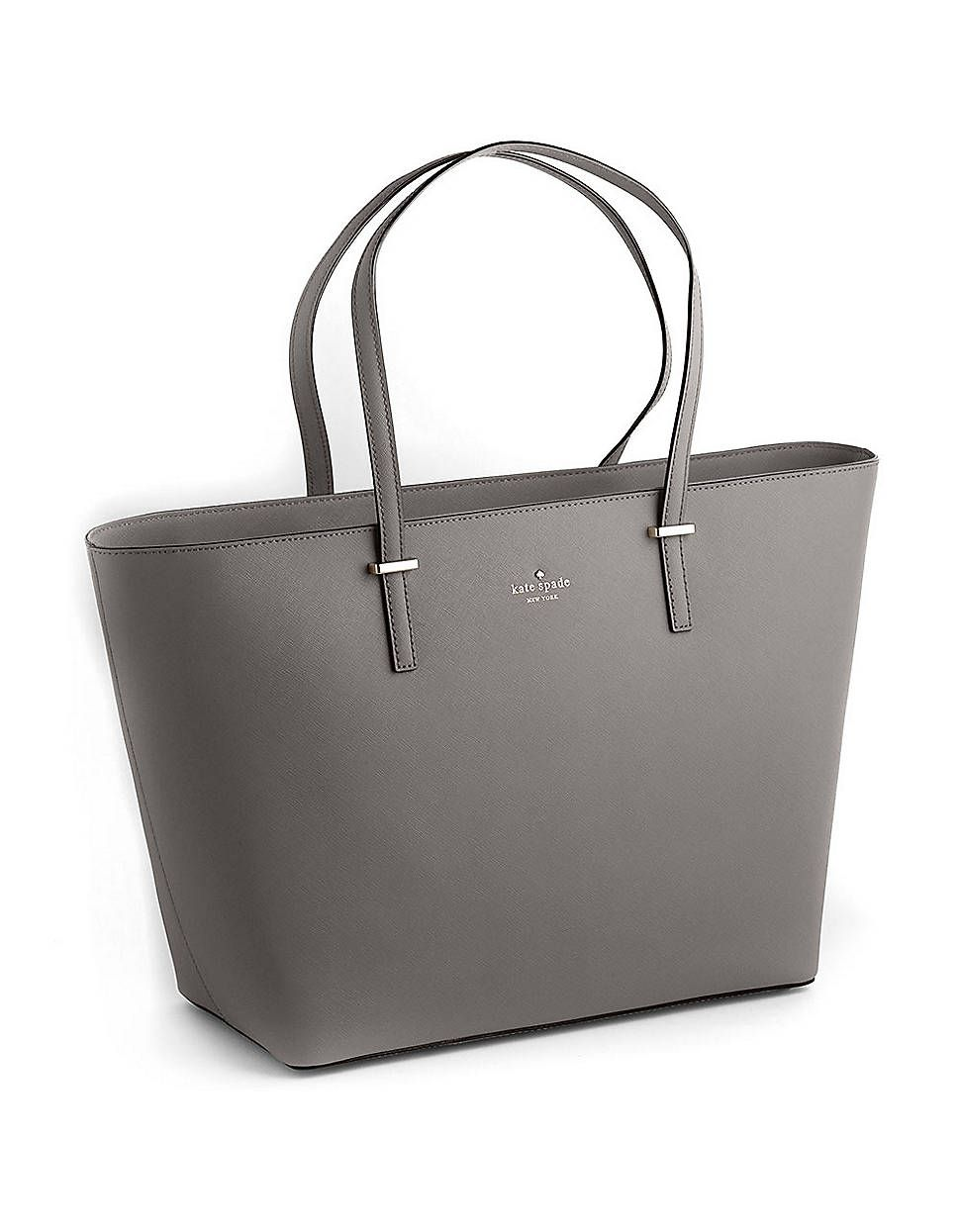 fc8ab02ff Kate Spade Cedar Street Medium Harmony Leather Tote Bag in Gray (grey) |  Lyst