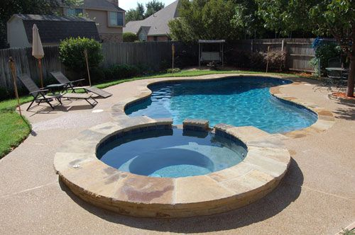 Swimming Pool With Spa Google Search Pools Pinterest