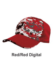 Red / Red Digital Camo Flex Fit Hat at Graham Sporting Goods