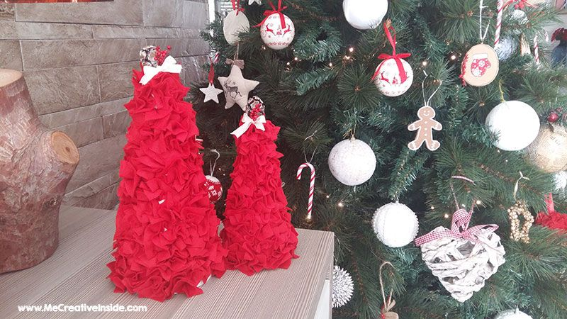 Me CreativeInside alberelli di Natale polistirolo pannolenci