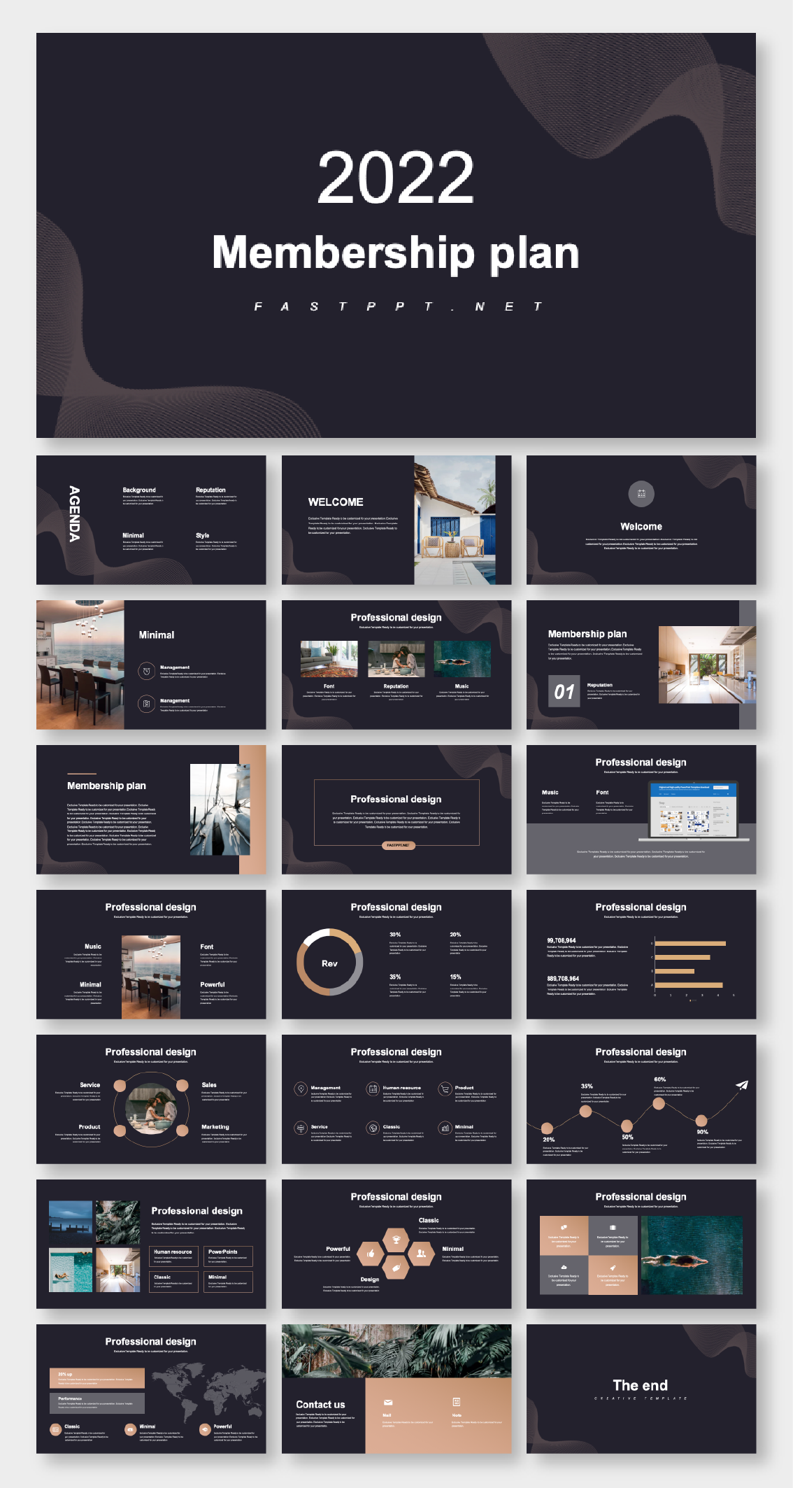 Dark Version Business Report Presentation Template