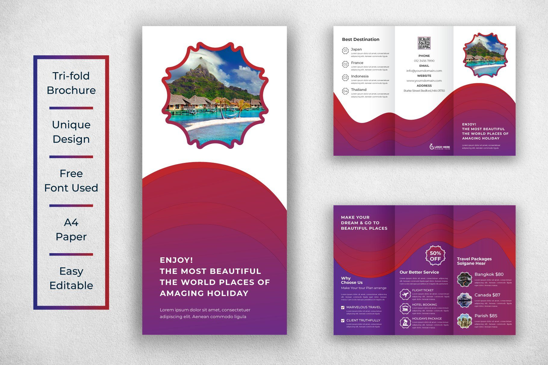 Travel Trifold Brochure Template Trifold Brochure Template Trifold Brochure Brochure Template