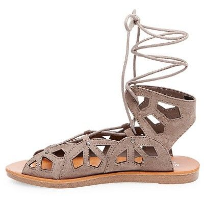 9be98bdee86 Women s Nadine Gladiator Sandals - Mossimo Supply Co. Grey 9.5 ...
