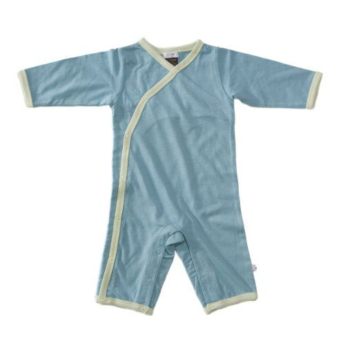 5aedf1ad6 Baby Soy All-Natural Kimono Onepiece Color: Blue Ocean Size: 0-3 ...