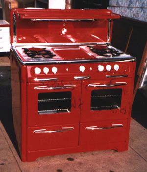 vintage wedgewood stove red