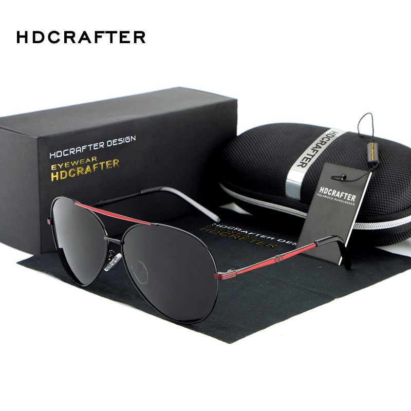 2017 HDCRAFTER Classic Design Polarized Sunglasses Men with UV400  Protection Brand in High Quality oculos de 9bb4be57d6
