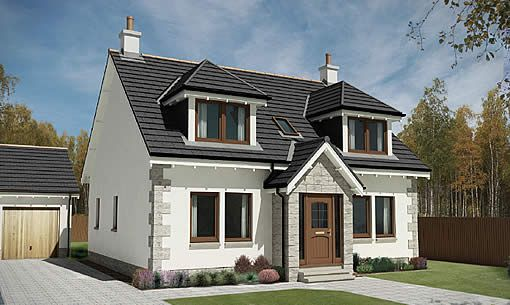 Hawthorn Timber Frame One And A Half Storey Modern Bungalow Exterior House Designs Exterior Self Build Houses