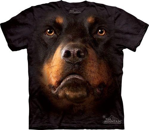 b6a6466cfa Camiseta com cara de cachorro - Rottweiler