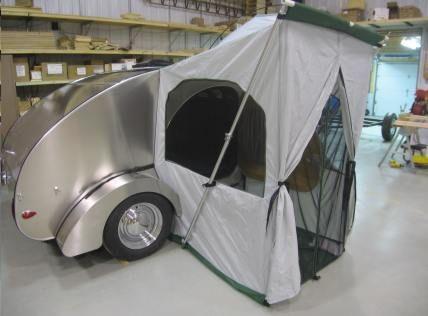 Camp Inn Teardrop Trailer Side Tent Teardrop Camping Teardrop Trailer Vintage Camper