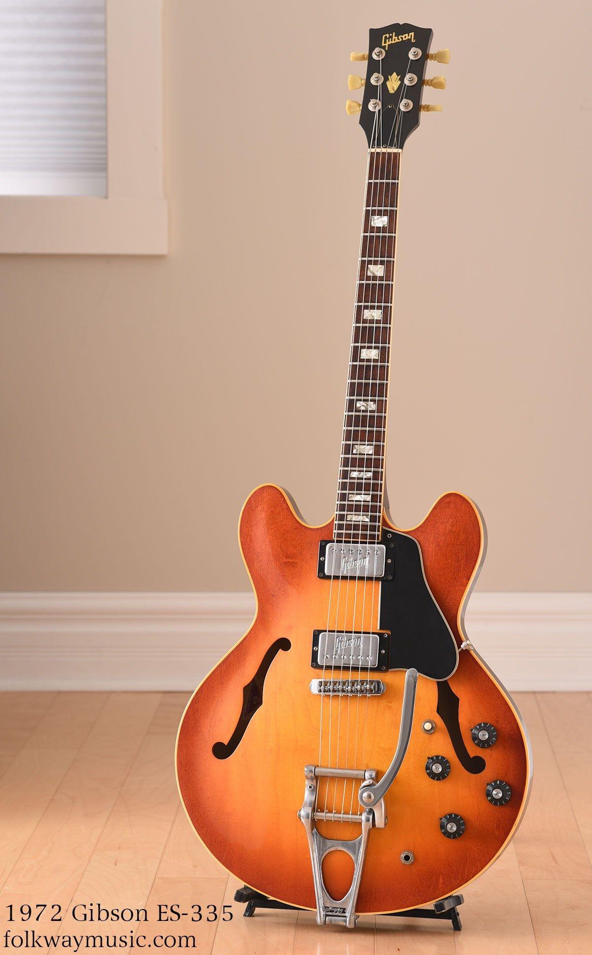 1972 Gibson ES-335 cherry sunburst-Excellent   Vintage guitar in