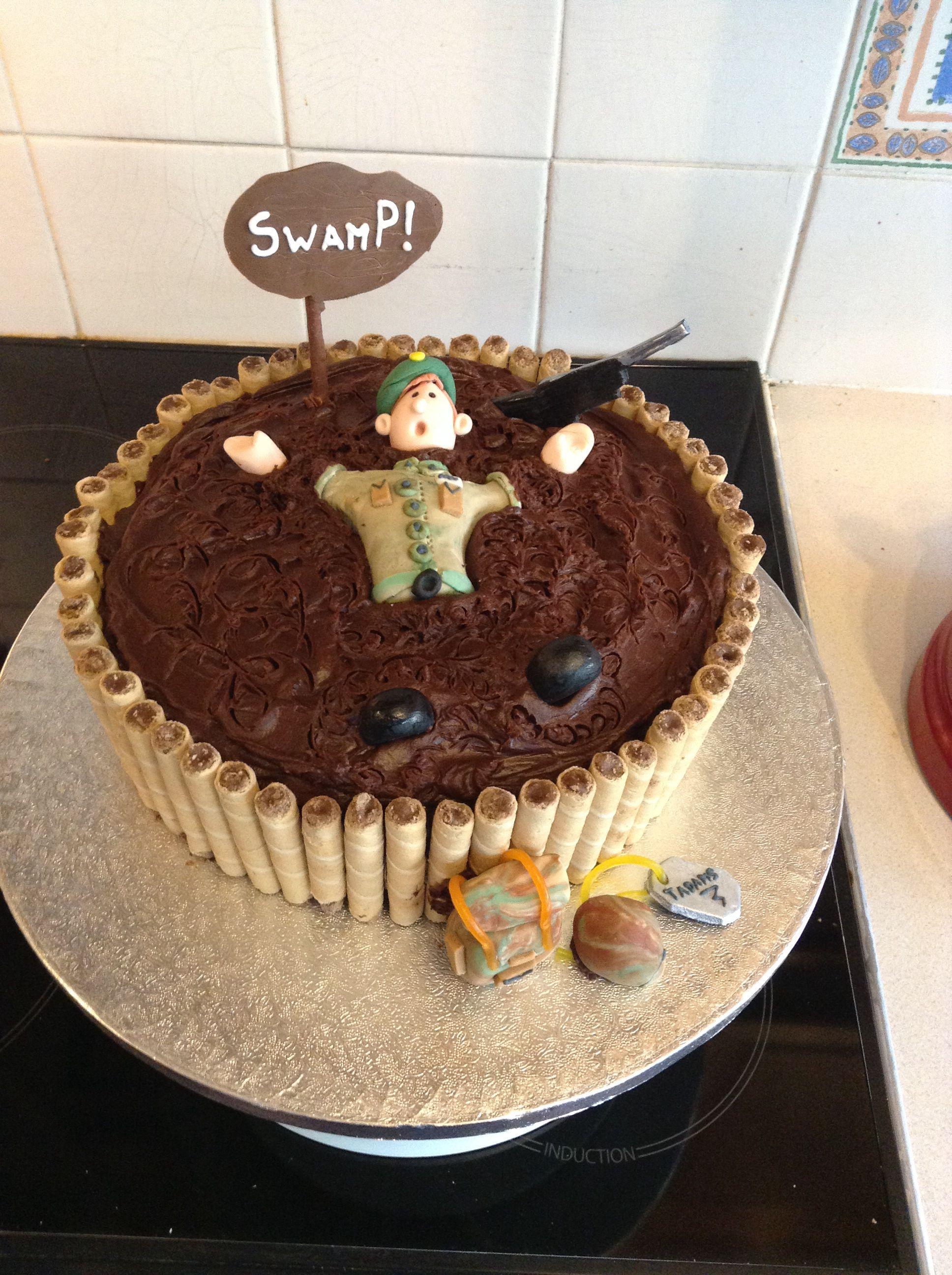 Royal Marine swamp cake Cake
