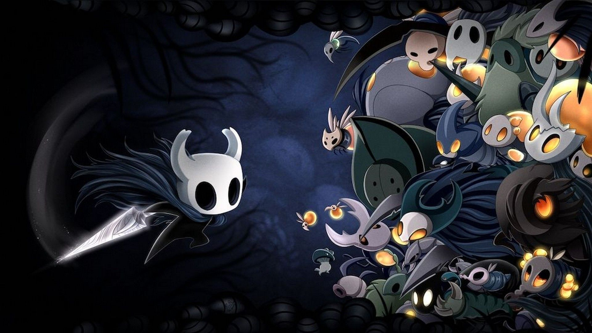 Wallpaper Hollow Knight Best Wallpaper Hd In 2020 Hollow Art Hollow Night Android Wallpaper