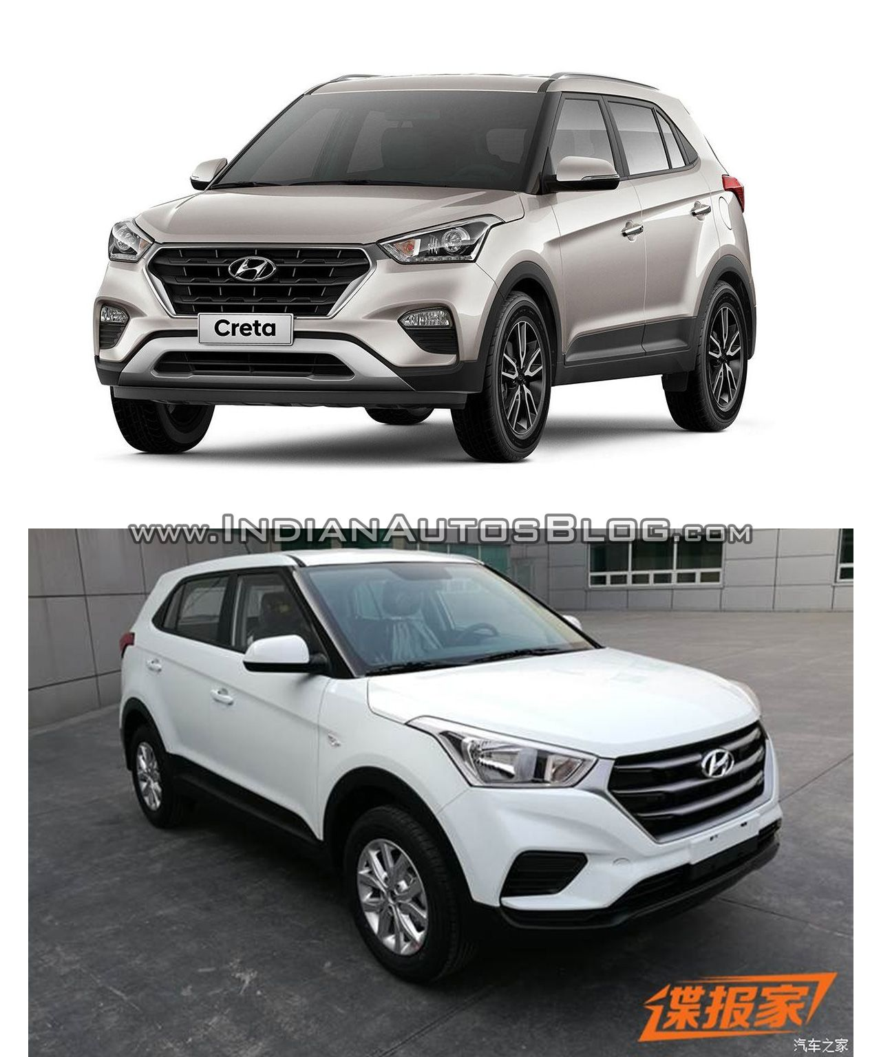 Brazilian Hyundai Creta Vs Hyundai Creta Facelift From China In Images China Image Automobile
