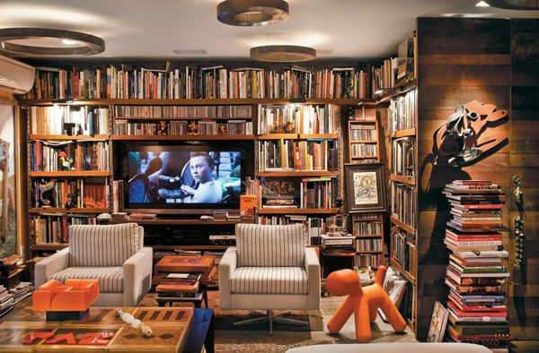 Cool Interior Design Home Library Ideas With
