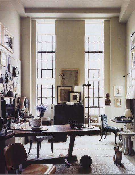 Thomas O'Brien / Aero Studios {vintage industrial art deco modern loft} by recent settlers, via Flickr