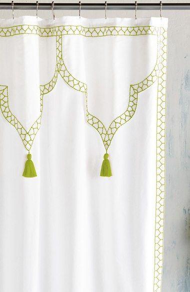 John Robshaw Iswar Shower Curtain Green Shower Curtains Shower