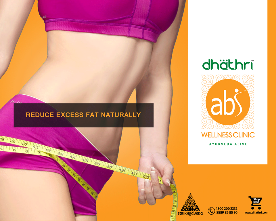Looking for the best natural way to reduce your overweight?  Visit Dhathri Ayurveda's ABS Wellness Clinic to get a fit and slim body through ayurvedic treatment! Dhathri Ayurveda's General Weight Loss package aimed at reducing excess fat naturally!!! Know More @ http://bit.ly/1RSCjHu ‪#‎DhathriAyurveda‬ ‪#‎ABSWellnessClinic‬ ‪#‎AyurvedaAlive‬ ‪#‎ReduceFat‬
