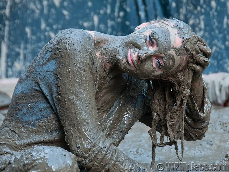 WAM Messy Mud | WAM video store by young glamour models