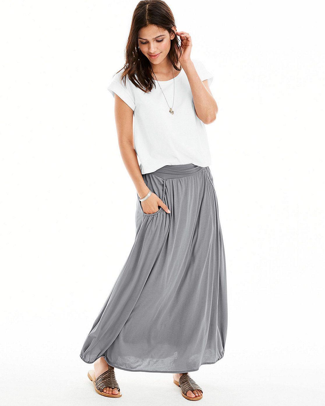 Hill Maxi Skirt Grey maxi skirts, Maxi skirt